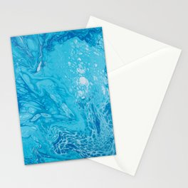 paint liquid fluid art stains blue Stationery Cards