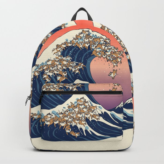 The Great Wave of Shiba Inu Rucksack