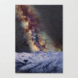 Sagitario, Scorpio and the star Antares over the hight mountains Canvas Print