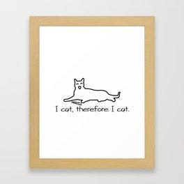 Cat Print I cat Framed Art Print