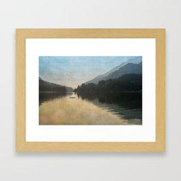 Lake Sutherand Sunset Framed Art Print