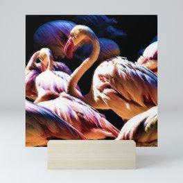 Flamingos of the Serengeti painting Mini Art Print