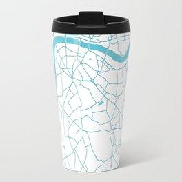 London White on Turquoise Street Map Travel Mug
