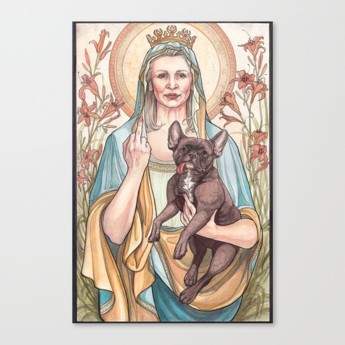 Our Blessed Rebel Queen Canvas Print