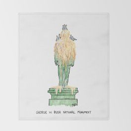 George W. Bush National Monument Throw Blanket
