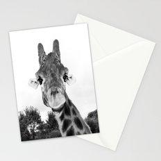 Giraffe. B+W. Stationery Cards