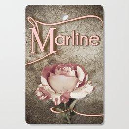 Personalized Antique Rose Cutting Board