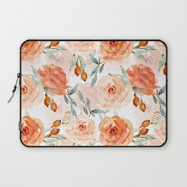 Living Coral Autumnal Roses Laptop Sleeve