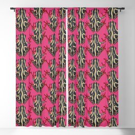 congo tree frog pink Blackout Curtain