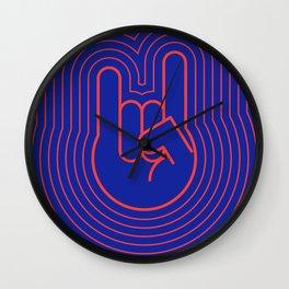The Rock Hand III Wall Clock