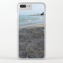 February Beach Day Clear iPhone Case