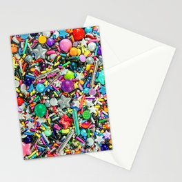 Rainbow Sprinkles - cupcake toppings galore Stationery Cards