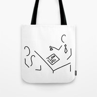 lawyer Tote Bags featuring notary public lawyer by Lineamentum