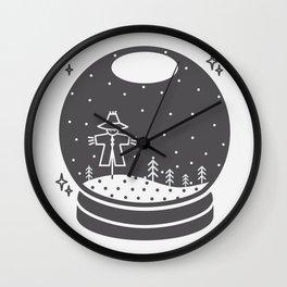 Halloween in a crystal ball Wall Clock