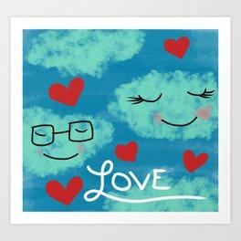 Love In The Clouds Art Print