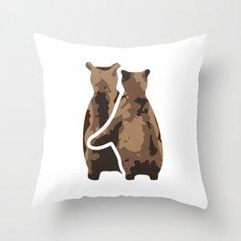 BEAR COUPLE Throw Pillow