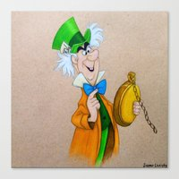 mad hatter Canvas Prints featuring Mad Hatter by Sierra Christy Art