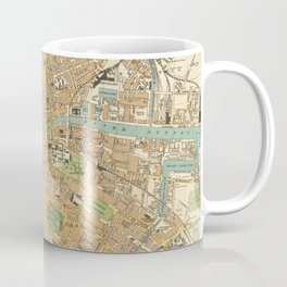 Vintage Map of Dublin Ireland (1914) Coffee Mug