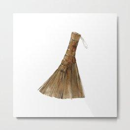 Japanese hand broom Metal Print