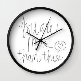 More Than Likes Wall Clock