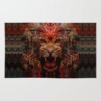 jaguar Area & Throw Rugs featuring Jaguar by Zandonai
