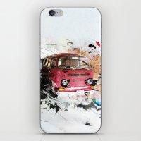 volkswagen iPhone & iPod Skins featuring volkswagen van by Adriana Bermúdez