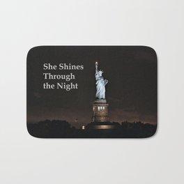 She Shines Through the Night Bath Mat