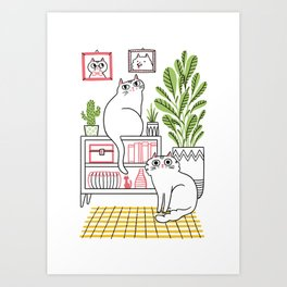Cat Decor Art Print