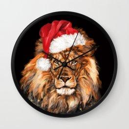 Christmas King Lion Wall Clock