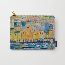 Fishing Boats of Genoa - palette knife city landscape Italy by Adriana Dziuba Carry-All Pouch
