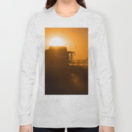 Midsummer time is harvest time of the cereal fields Long Sleeve T-shirt