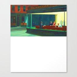 Night Owls Hopper Fine Art Painting For Art Lovers Canvas Print