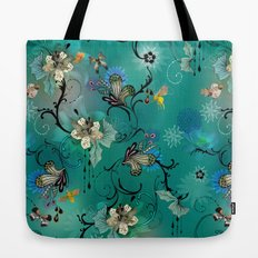 The Butterflies & The Bees  Tote Bag