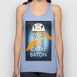 WEEP BALM OR CARRY BATON (Keep calm) Unisex Tank Top