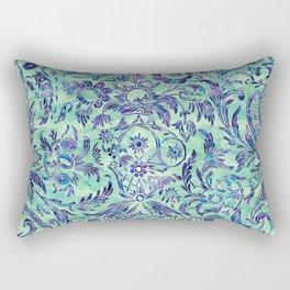 Watercolor Damask Pattern 06 Rectangular Pillow