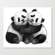 Panda's Hugs G143 Canvas Print
