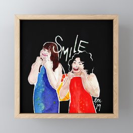 (Broad City) SMILE Framed Mini Art Print