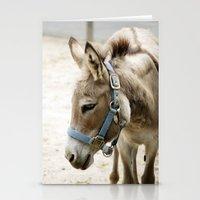 donkey Stationery Cards featuring Donkey by Amanda Stone