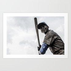 Ernie Banks Statue - Wrigley Field Art Print