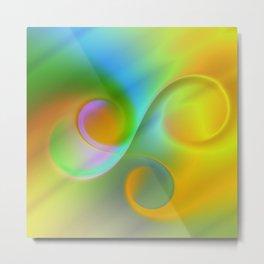 color whirl -3- Metal Print