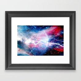 Starred Lightning Framed Art Print