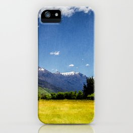 Green Fields & Mountain iPhone Case