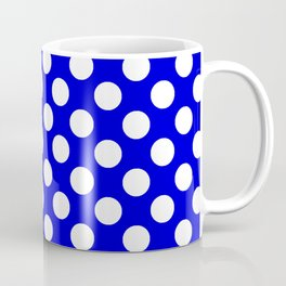 Royal Blue With Large White Polka Dots Coffee Mug