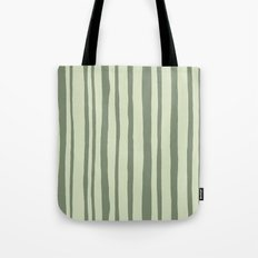 Into the Woods green Stripes Tote Bag
