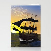 pirate ship Stationery Cards featuring Pirate ship  by nicky2342