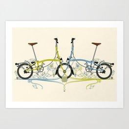 Brompton Bicycle cycling Art Print