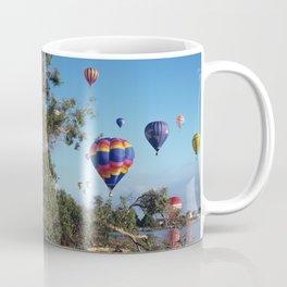 Hot air balloons over lake Coffee Mug