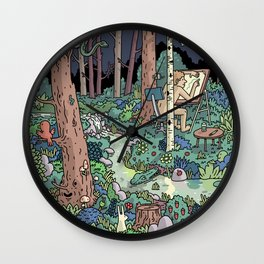 Artist in the Wild Wall Clock