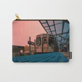 On Time Red Line El Train Chicago Train L Train Subway Platform Wilson Carry-All Pouch
