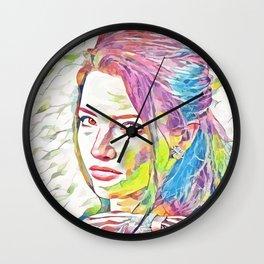 Talula Riley (Creative Illustration Art) Wall Clock